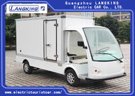 White Electric Delivery Van , 2 Person Golf Cart With MP3 Player Sound System