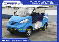Battery Powered Blue Electric Tourist Vehicles 8 Seats With Stylish Exterior