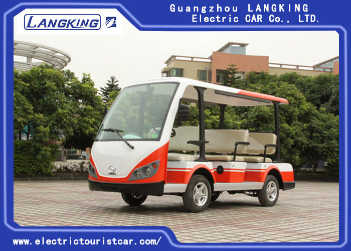 Multiple Purpose 8 Seater Electric Shuttle Bus Light Weight Superior Cruising Ability
