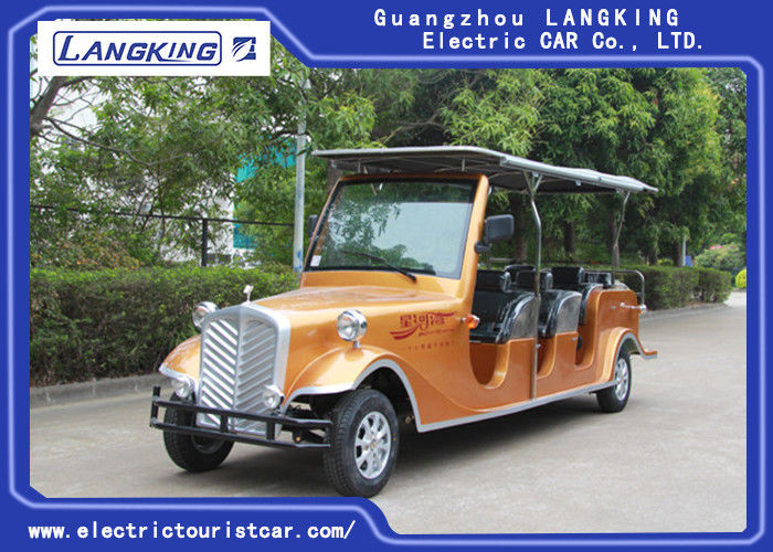 8seats Passenger 48V Battery 4KW Motor Electric Vintage Cars For Large Park Resort